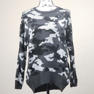 Rebellious One Black Gray Studded Sweater Size S